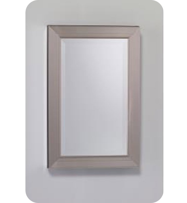 "Robern MTM20MDBN Metallique 19"" x 29 3/4"" Framed Wall Mirror in Brushed Nickel"