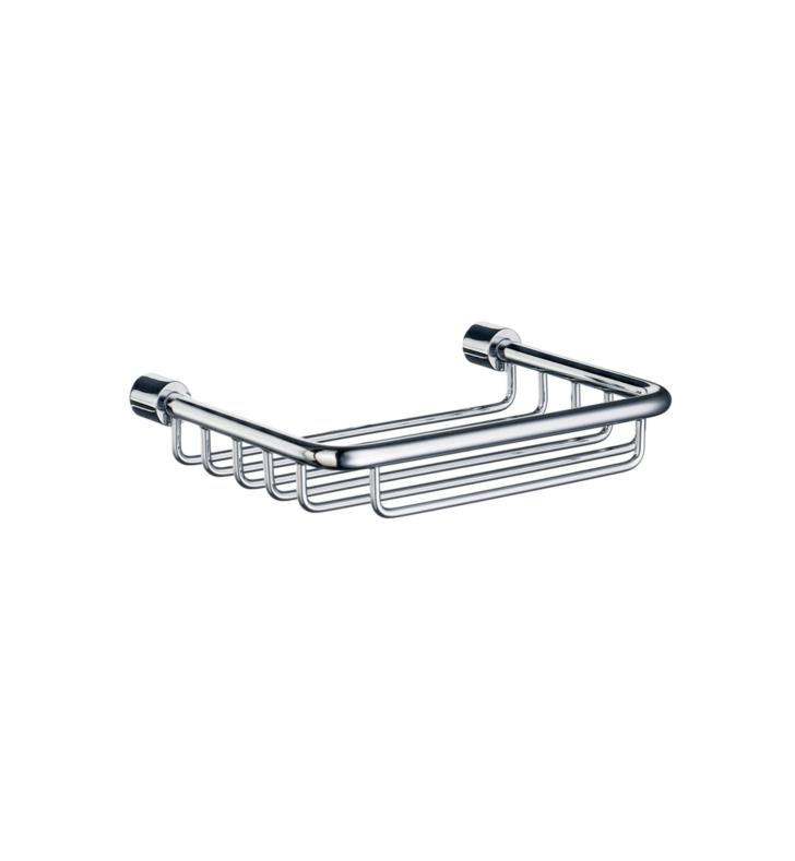 "Smedbo DK1005 Sideline 5"" Wall Mount Soap Basket in Polished Chrome"