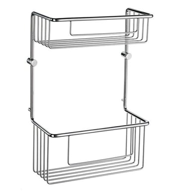 Smedbo DK1031 Sideline Soap Basket Straight 2 Level in Polished Chrome