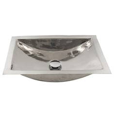 "Nantucket TRS-SM Brightwork Home 19 3/4"" Single Bowl Rectangular Undermount Stainless Steel Bathroom Sink"