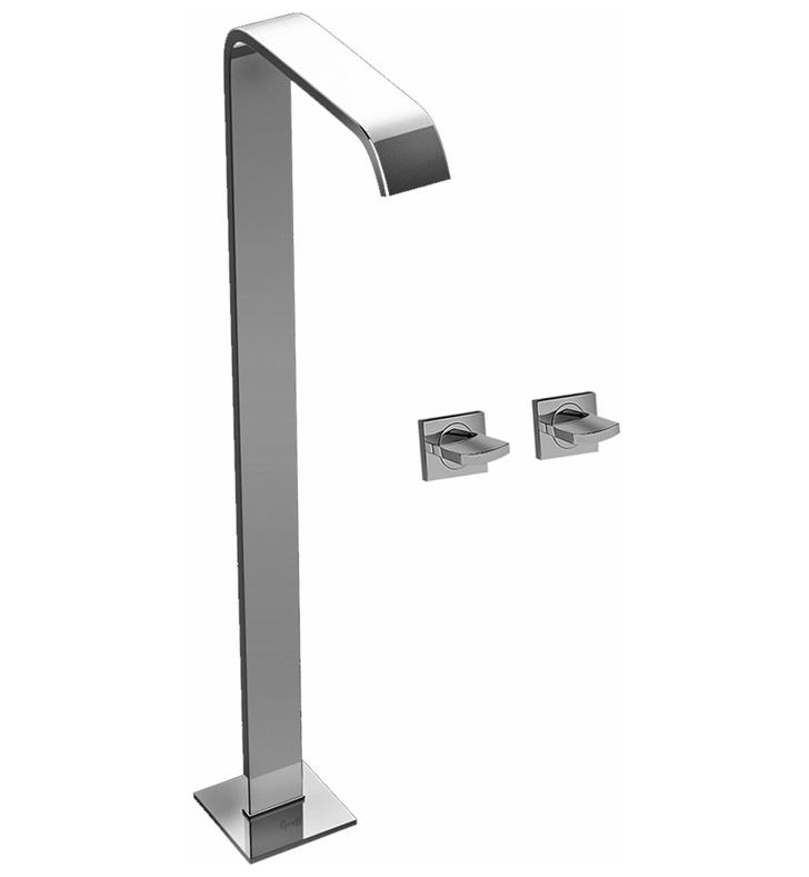 "Graff G-3652-C14U Targa 38"" Floor Mounted Tub Filler with Wall Mount Handles"