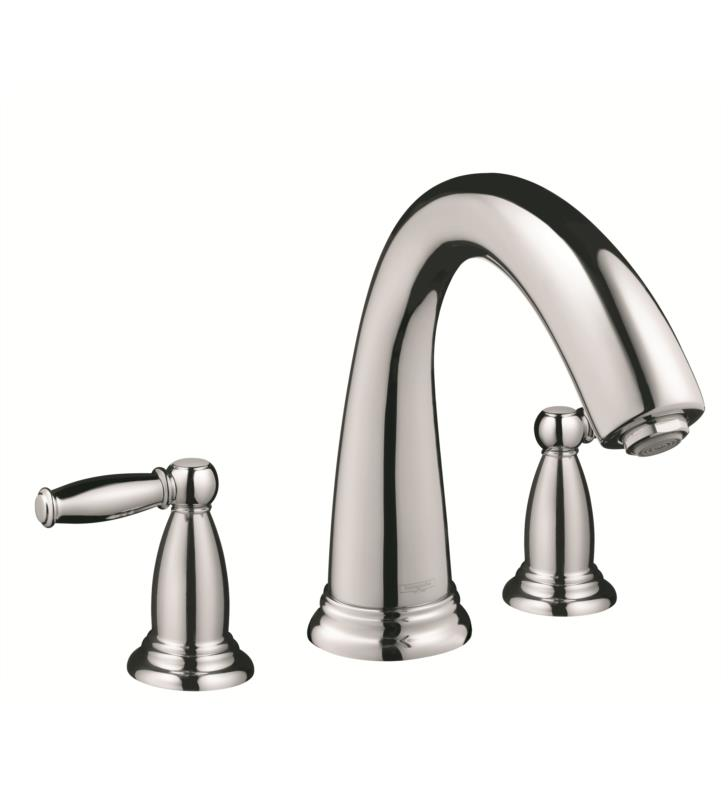 "Hansgrohe 06120000 Swing C 8"" Three Hole Widespread/Deck Mounted Roman Tub Set Trim with Lever Handle With Finish: Chrome"