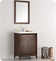 "Cambridge 24"" Antique Coffee Traditional Bathroom Vanity with Integrated Sink"