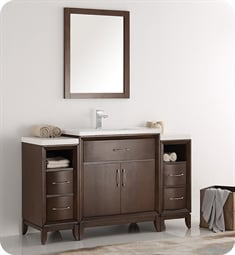 "Fresca FCB21-123012AC-I Cambridge 54"" Antique Coffee Traditional Bathroom Vanity with Sink"