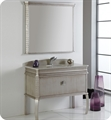 "Fresca Platinum FPCB7526SA London 40"" Antique-Silver Bathroom Vanity with Swarovski Handles Cabinet Only"