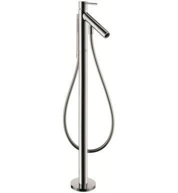 "Hansgrohe 10456821 Axor Starck 38 7/8"" Single Handle Free Standing Tub Filler with Handshower With Finish: Brushed Nickel"