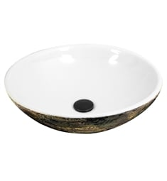 "Nantucket RC7040GMS Regatta 16 3/4"" Single Bowl Fireclay Round Bathroom Sink"