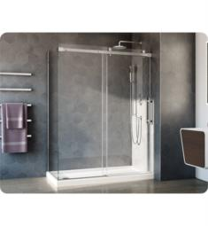 "Fleurco NXV2-40 Novara Plus 45 1/2"" - 60"" Two Sided Sliding Frameless Shower Door and Fixed Panel with Return Panel"