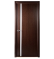 Arazzinni G208-W Grand 208 Interior Door in a Wenge Finish with Frosted Glass Strip