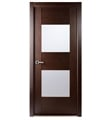 Arazzinni M204-W Maximum 204 Interior Door in a Wenge Finish with Frosted Glass Panels