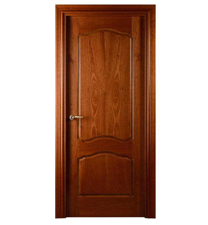 Arazzinni D-S-1880-JS-CS-PBH Desta Interior Door in a Sepele Finish With Door Width: 17 13/16 inches And Hanging Options: Complete with Door Jambs, Casing, Door Handle Pre-drilling, and Chrome Plain Bearing Hinges