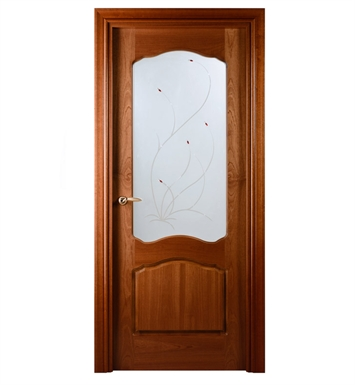 Arazzinni DV-S-3280-JS-CS-SOSS212 Desta Verra Interior Door in a Sapele Finish with Frosted Glass Design With Door Width: 31 13/16 inches And Hanging Options: Complete with Door Jambs, Casing, Door Handle Pre-drilling, and Chrome SOSS Hinges