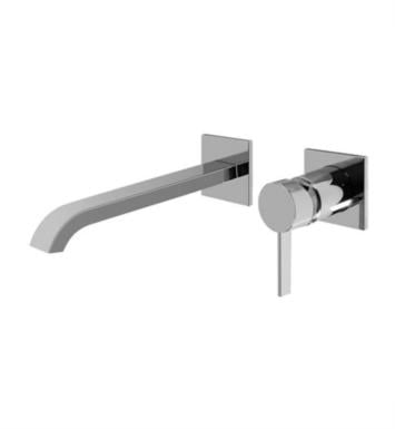 "Graff G-6236-LM39W-OB Qubic Tre 9 1/4"" Single Handle Wall Mount Widespread Bathroom Sink Faucet With Finish: Olive Bronze And Rough / Valve: Trim + Rough"