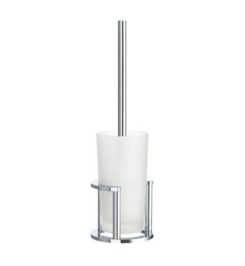 "Smedbo FK101 Outline 4 7/8"" Free Standing Toilet Brush and Holder in Polished Chrome"