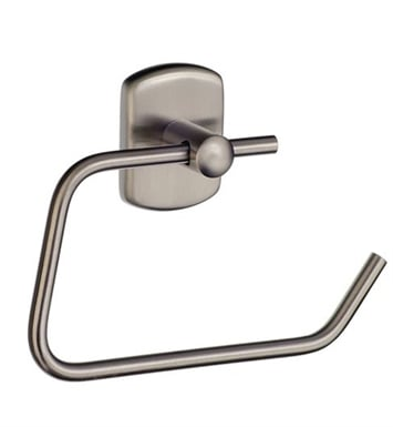 Smedbo C341N Cabin Toilet Roll Euro Holder Without Lid in Brushed Nickel