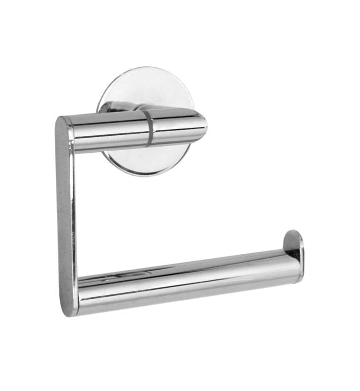 "Smedbo YK341 Time 5"" Wall Mount Euro Toilet Roll Paper Holder in Polished Chrome"