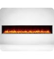 "Dynasty Fireplaces DY-BT79 Harmony 79"" 120 V Built-In Contemporary Electric Fireplace in Black"