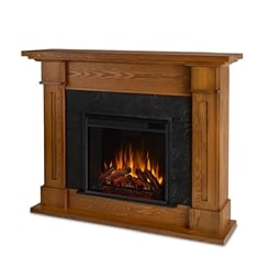"Real Flame 6030E-BO Kipling 53 1/2"" Freestanding Electric Fireplace Mantel Package in Burnished Oak"