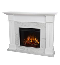 "Real Flame 6030E-W Kipling 53 1/2"" Freestanding Electric Fireplace Mantel Package in White"