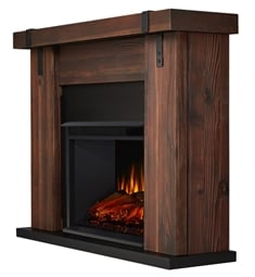 "Real Flame 9220E-CHBW Aspen 48 1/2"" Freestanding Electric Fireplace Mantel Package in Chestnut Barnwood"