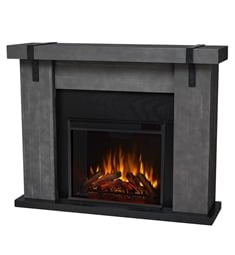 "Real Flame 9220E-GBW Aspen 48 1/2"" Freestanding Electric Fireplace Mantel Package in Gray Barnwood"