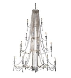 "Varaluz 270C18TR Barcelona 18 Light 57 1/8"" Incandescent Heirloom-Quality Optic Crystal Chandelier in Transcend Silver"