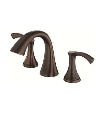 Danze D304022BR Antioch™ Two Handle Mini Widespread Lavatory Faucet in Tumbled Bronze