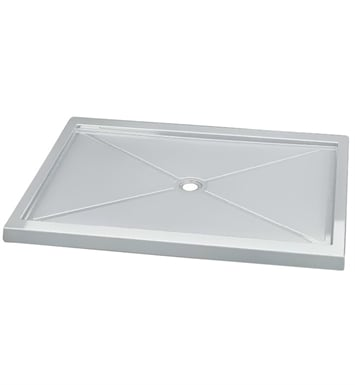 "Fleurco ABF4260-13 Quad Acrylic In Line Center Drain Rectangular Shower Base With Base Size: 60"" x 42"" x 3"" And Finish: Biscuit"