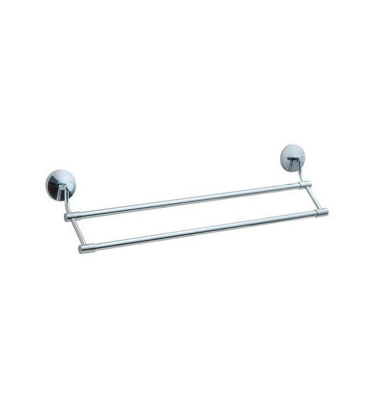 "Smedbo NK3364 Studio 24"" Wall Mount Double Towel Rail in Polished Chrome"