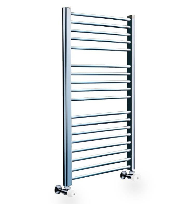 "Myson COS85SN Classic Comfort 19 3/4"" Wall Mount D-Shaped Hydronic Towel Warmer With Finish: Satin Nickel"