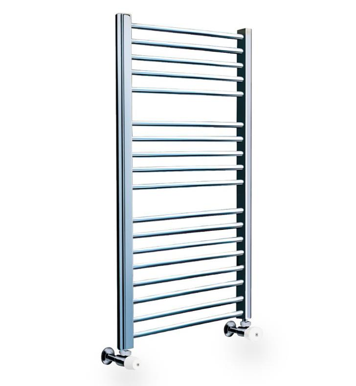 "Myson COS86NI Classic Comfort 23 5/8"" Wall Mount D-Shaped Hydronic Towel Warmer With Finish: Polished Nickel"