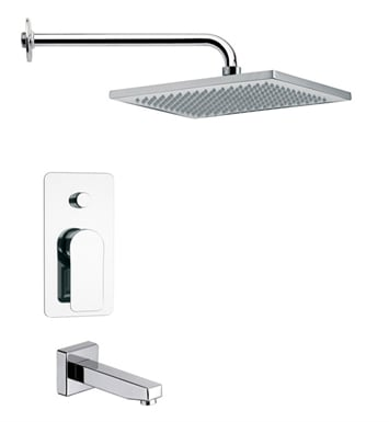 Nameeks TSF2116-14 Remer Tub and Shower Faucet With Finish: Black