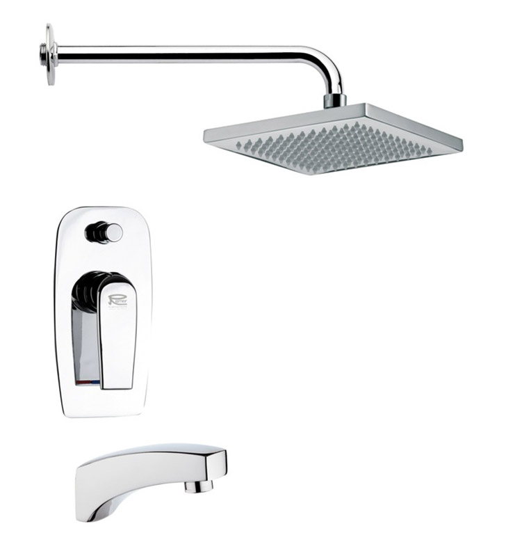 Nameeks TSF2124-14 Remer Tub and Shower Faucet With Finish: Black