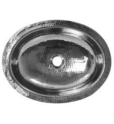 "Nantucket OVS Brightwork Home 17 1/2"" Single Bowl Undermount Oval Bathroom Sink in Stainless Steel without Overflow"