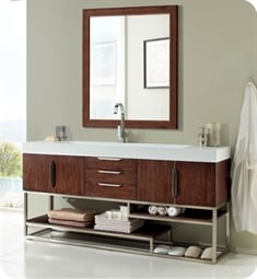 "James Martin 388-V72S-CFO Columbia 72"" Single Bathroom Vanity in Coffee Oak"