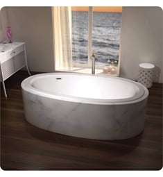 "BainUltra BESSOU00 Essencia Design 7438 74"" x 38"" Customizable Drop-in Bath Tub"