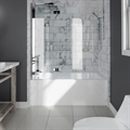 "Neptune Entrepreneur E121122.5 Albana 65 3/4"" Customizable Alcove Rectangular Acrylic Bathtub with Integrated Tiling Flange and Skirt"