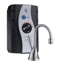 "InSinkErator H-VIEW-SS Involve 6 3/4"" H-View Single Handle Deck Mounted Instant Hot Water Dispenser with Stainless Steel Tank"