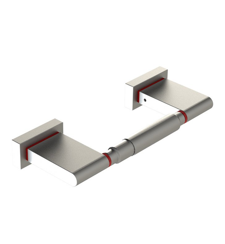 Rubinet 7ERT0CHSN R10 Toilet Paper Holder With Finish: Main Finish: Chrome | Accent Finish: Satin Nickel