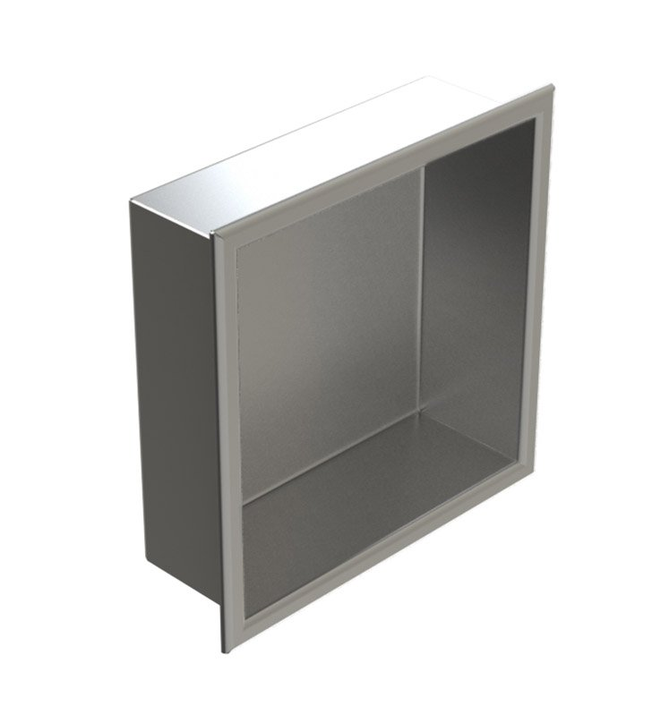 "Rubinet 7TRT1BBBB R10 12""x12"" Recessed Wall Niche With Finish: Main Finish: Bright Brass 