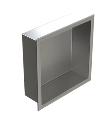"Rubinet 7TRT1MBMB R10 12""x12"" Recessed Wall Niche With Finish: Main Finish: Matt Black 