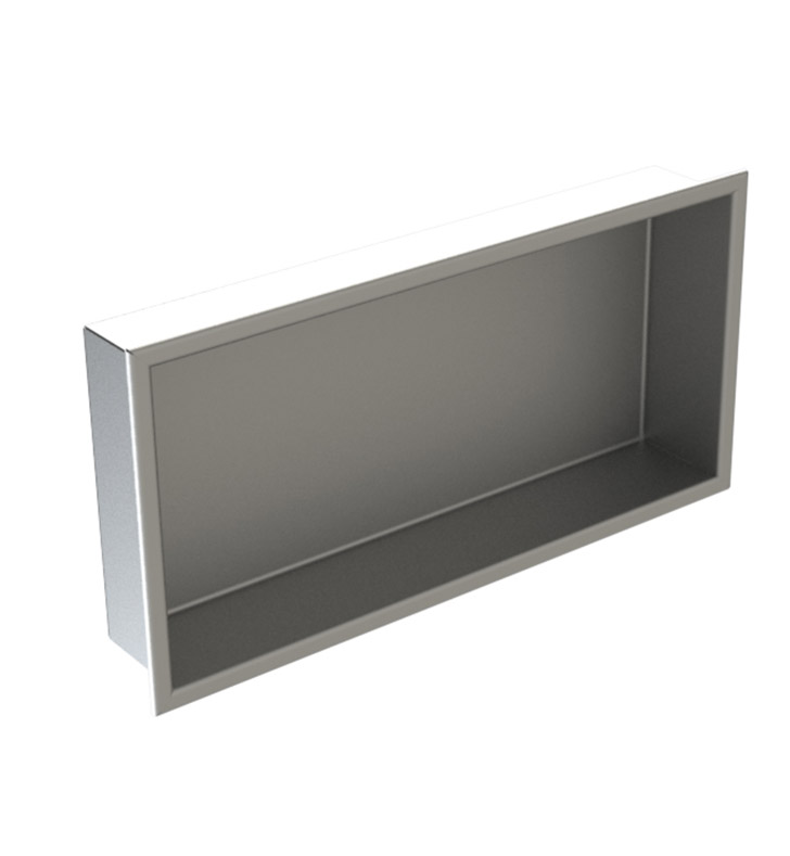 "Rubinet 7TRT2RDRD R10 12"" x 24"" Recessed Wall Niche With Finish: Main Finish: Red 