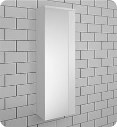 Fresca FST6163WH Caro White Mirrored Side Cabinet