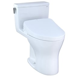 "TOTO MW8563046CEMG#01 Ultramax 27 3/8"" One Piece 1.28 GPF & 0.8 GPF Dual Flush Elongated Toilet and Washlet+ S500E"