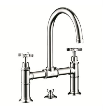 "Hansgrohe 16510 Axor Montreux 6 7/8"" Double Cross Handle Deck Mounted Bathroom Faucet with Pop-Up Assembly"
