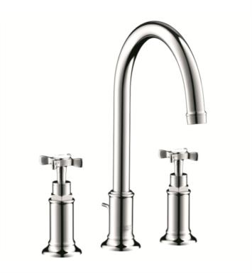 "Hansgrohe 16513 Axor Montreux 6 7/8"" Double Cross Handle Widespread/Deck Mounted Bathroom Faucet with Pop-Up Assembly"