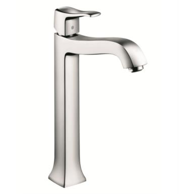 "Hansgrohe 31078821 Metris C 7 1/2"" Single Handle Deck Mounted Tall Bathroom Faucet with Pop-Up Assembly With Finish: Brushed Nickel"