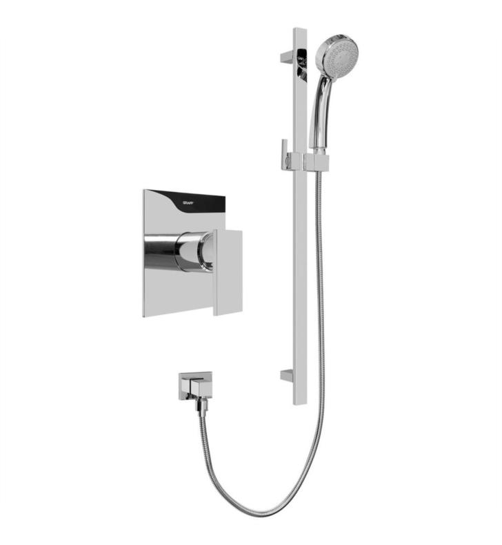 "Graff G-7246-LM31S-PC Solar/Structure 27 3/4"" Contemporary Pressure Balancing Shower Set With Finish: Polished Chrome And Rough / Valve: Trim + Rough"