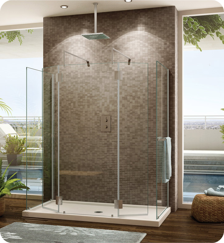 Fleurco VW6308 Evolution 6\' Walk in Square Top Shower Enclosure with ...