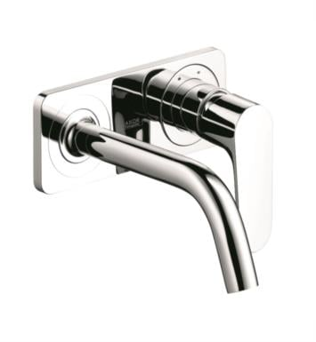 "Hansgrohe 34115821 Axor Citterio M 9 3/8"" Single Handle Wall Mount Bathroom Faucet with Base Plate With Finish: Brushed Nickel"